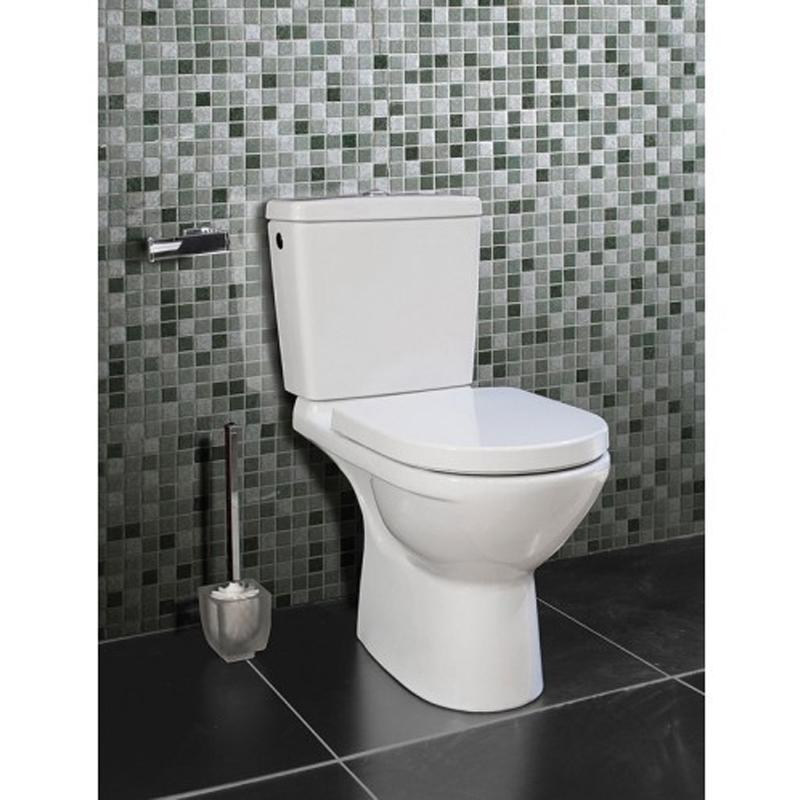 Vas WC monobloc, stativ, iesire verticala, alb, O.Novo