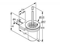 Desen tehnic, portperie wc, kludi, a-xes