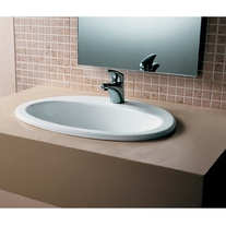 Lavoar incastrat, oval, 56 cm, alb alpin, O.Novo