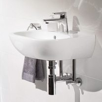 Lavoar suspendat, compact, 45 cm, alb alpin, O.Novo