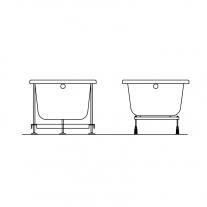 Cada dreptunghiulara Kolpasan, Tamia, 170 x 75 cm, acril