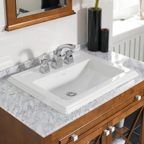 Lavoar incastrat Villeroy & Boch, Hommage, 63 cm, ceramic plus, alb alpin