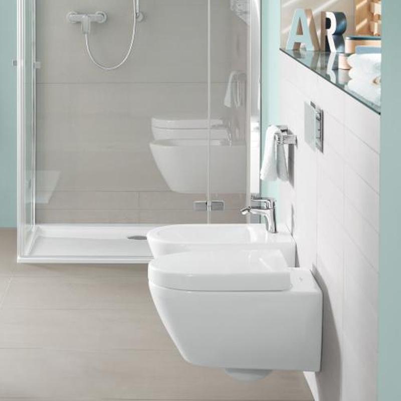 Vas WC suspendat, rotund, alb alpin CeramicPlus, Subway 2.0