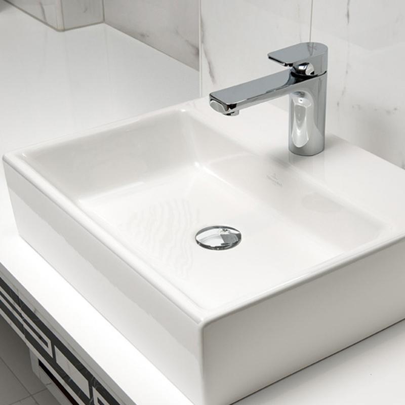 Lavoar suspendat, 50 cm, alb star, Memento
