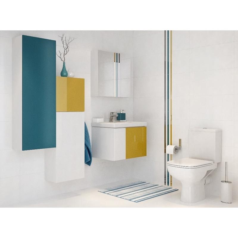 Dulap suspendat Cersanit, Colour, 80 x 40 cm, alb