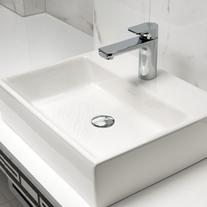 Lavoar suspendat, 80 cm, alb alpin, Memento