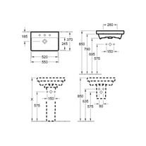 Schita-tehnica-Lavoar-Villeroy-Boch-Avento