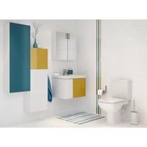 Front dulap, 40 x 120 cm, alb oglinda, Colour