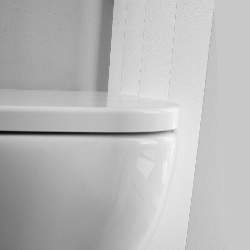 Capac vas WC Hatria, Bianca, soft close, alb