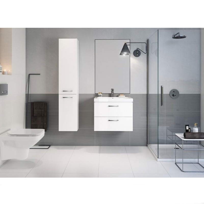 Set mobilier suspendat, cu lavoar Como, 80 cm, alb, Lara