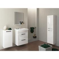 Oglinda cu raft, 50 x 65 cm, alb, Melar