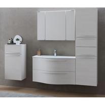 Mobilier pentru lavoar, 100 cm, rosu + Lavoar pentru mobilier, 100 cm, alb, Nayra