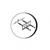 Set mobilier suspendat si lavoar Kolpasan, Tara, 91 cm, alb mat