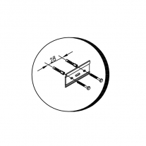 Set mobilier suspendat si lavoar Kolpasan, Tara, 90 cm, stejar inchis