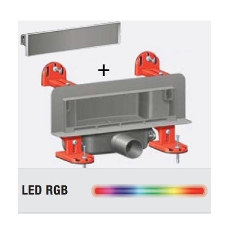 Rigola de dus cu montaj in perete si cu gratar faiantabil, cu LED intermitent, Scada