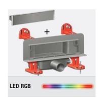 Rigola de dus cu montaj in perete si cu gratar din otel inoxidabil, cu LED intermitent, Scada