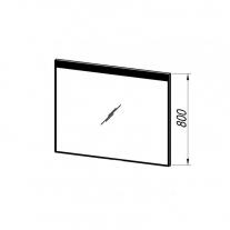 Oglinda Kolpasan, Gloria, 100 cm, cu iluminare led, sensor touch, rama neagra