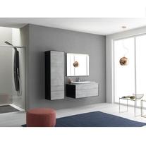 Dulap inalt cu usa si sertare, 150 cm, negru, Gloria