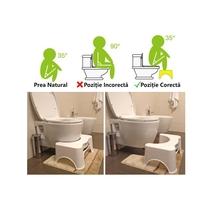 Scaun pentru vas WC, alb, BetterPoop