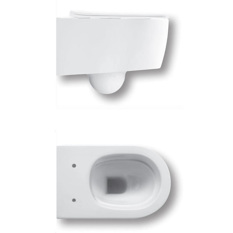 Vas WC suspendat Hatria, Fusion, rimless, alb