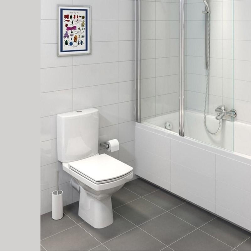 Set vas WC Cersanit, Easy New, stativ, Rimless cu rezervor inclus