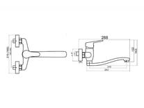 Baterie lavoar sau bucatarie, pipa lunga, Titania Iris New
