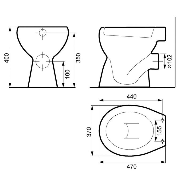 Vas WC stativ Cersanit, Roma New