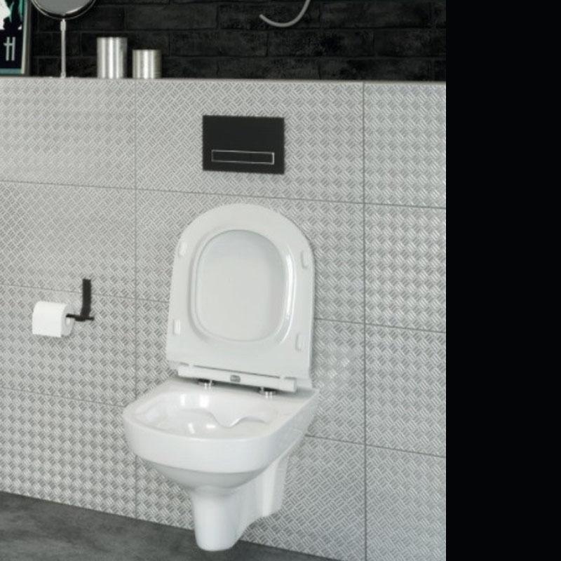 Vas WC suspendat,Cersanit, City, Rimless,alb