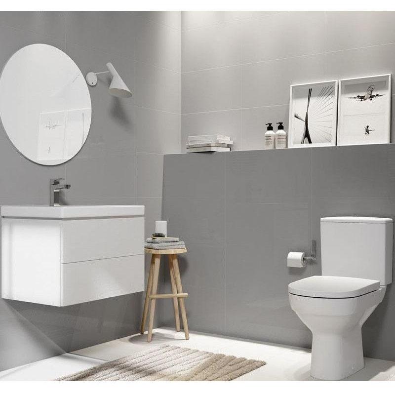 Capac WC Cersanit, City, duroplast cu Soft-Close si Easy Off, alb