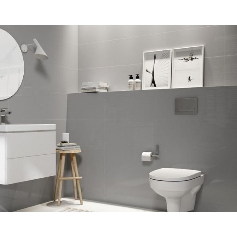 Capac WC Cersanit, City, slim, duroplast cu Soft-Close si Easy Off,alb