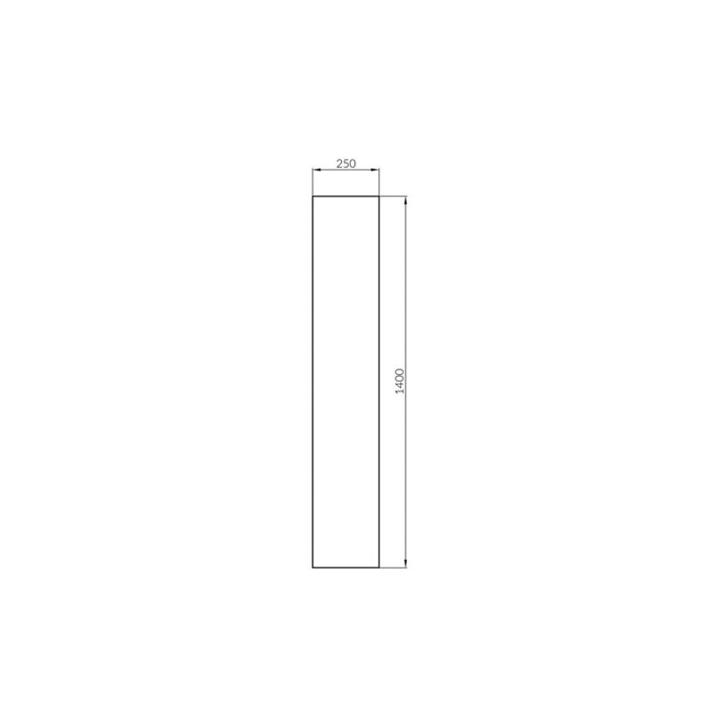 Dulap coloana Cersanit, Crea, cu doua usi, 140 cm, gri