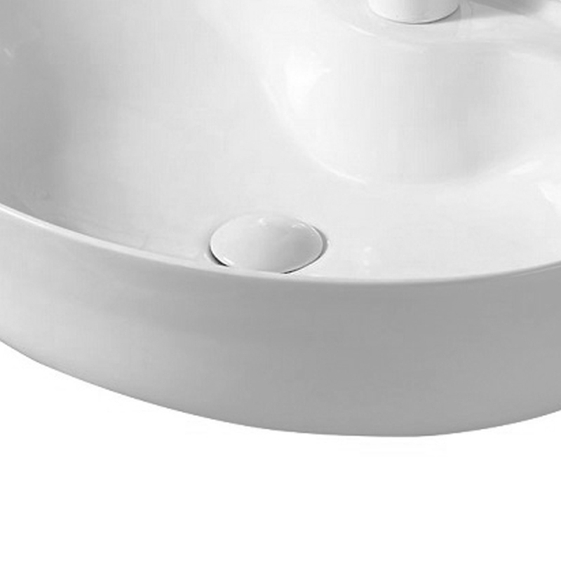 Lavoar pe blat Fluminia, Tamisa, alb, 57 x 41 cm