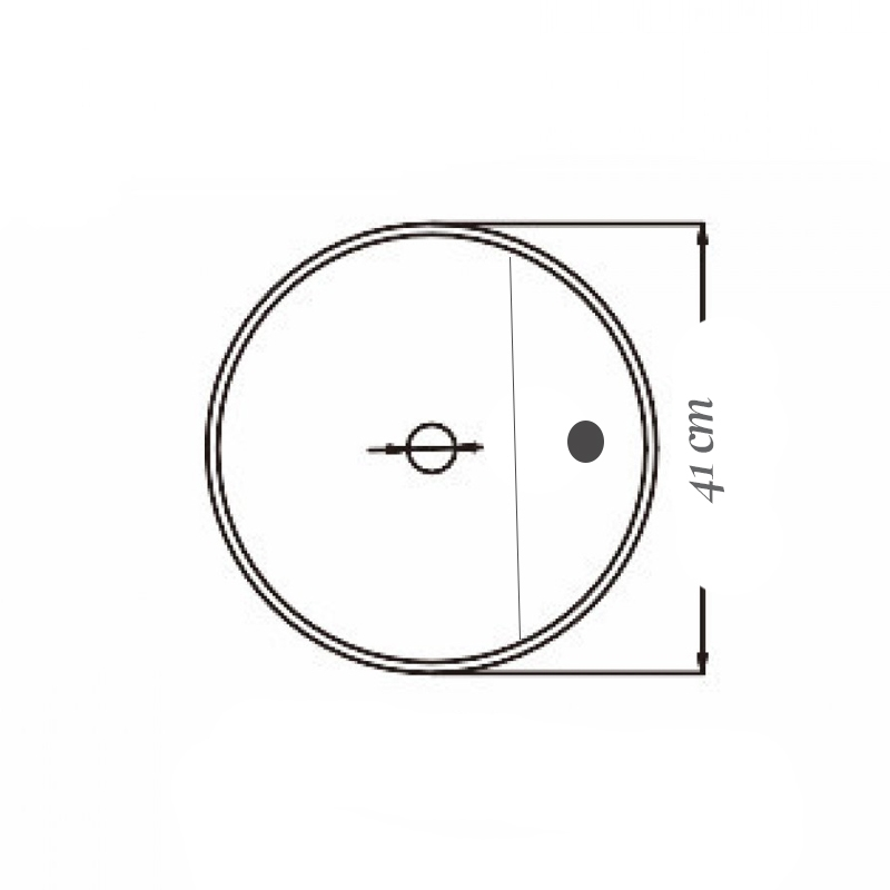 Lavoar pe blat, Fluminia, Cassandra 41, alb, 41 x 41 cm