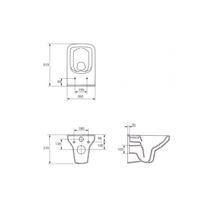 Set vas WC Cersanit, Como New, suspendat, Rimless cu capac Soft-Close si Easy Off, slim