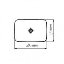 Lavoar pe blat Fluminia, Baldur, alb, 48 x 37 cm