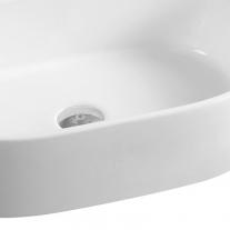 Lavoar pe blat Fluminia, Tisa, alb, 56 x 35 cm