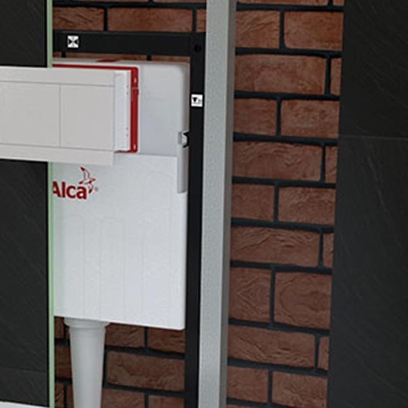 Rezervor wc incastrat Alcaplast, Basicmodul, pentru montare in zidarie, pentru wc stativ