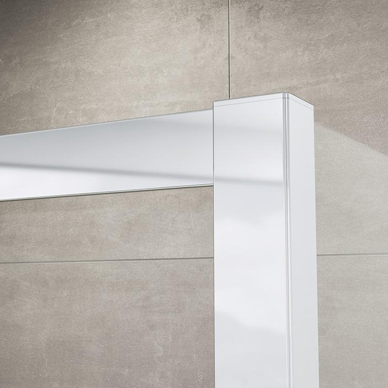 Set cabina de dus Sanswiss, Ocelia, patrata 90 x 90 cm, cu acces pe colt, + cadita patrata 90 cm, crom lucios