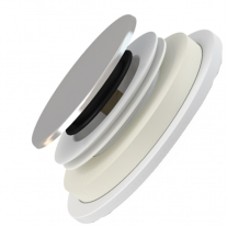 Sifon cadita dus Alcaplast, cu inaltime mare, click-clack, 72 mm, crom