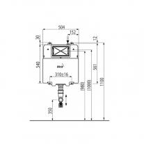 Rezervor wc incastrat Alcaplast, Basicmodul, slim, pentru montare in zidarie, pentru wc stativ, 8.4 cm