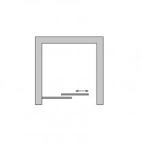 Usa culisanta Sanswiss, Ocelia, din doua elemente, 120 x 190 cm, crom lucios
