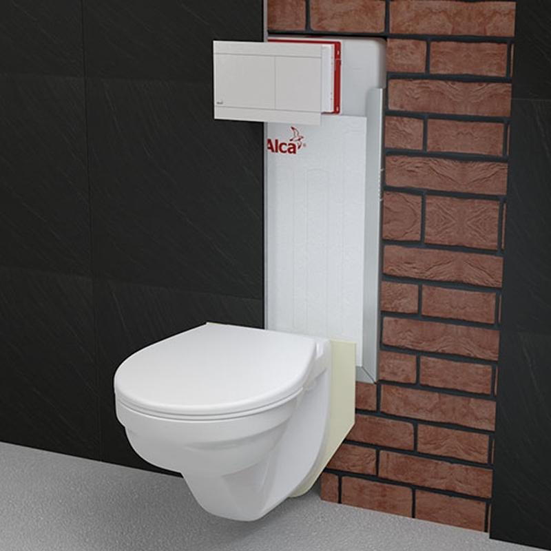 Rezervor wc incastrat Alcaplast, Renovmodul, pentru montare in zidarie, pentru wc suspendat