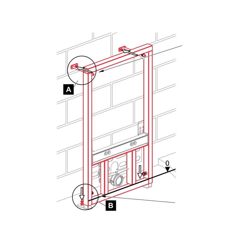 Cadru montaj Alcaplast, pentru bideu, H112 cm