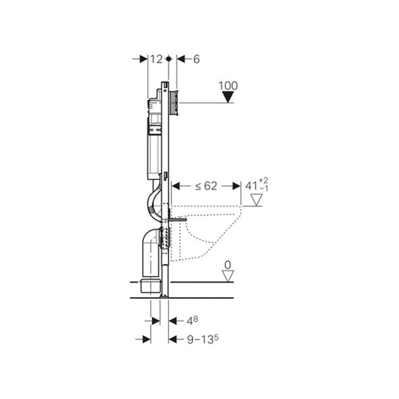 Desen Tehnic Rama Duofix curezervor Sigma 12cm wc suspendat