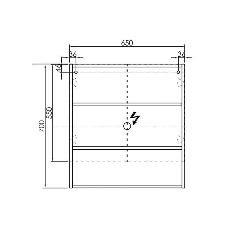 Oglinda cu dulap Kolpasan, Evelin, 65x14x70cm, alb