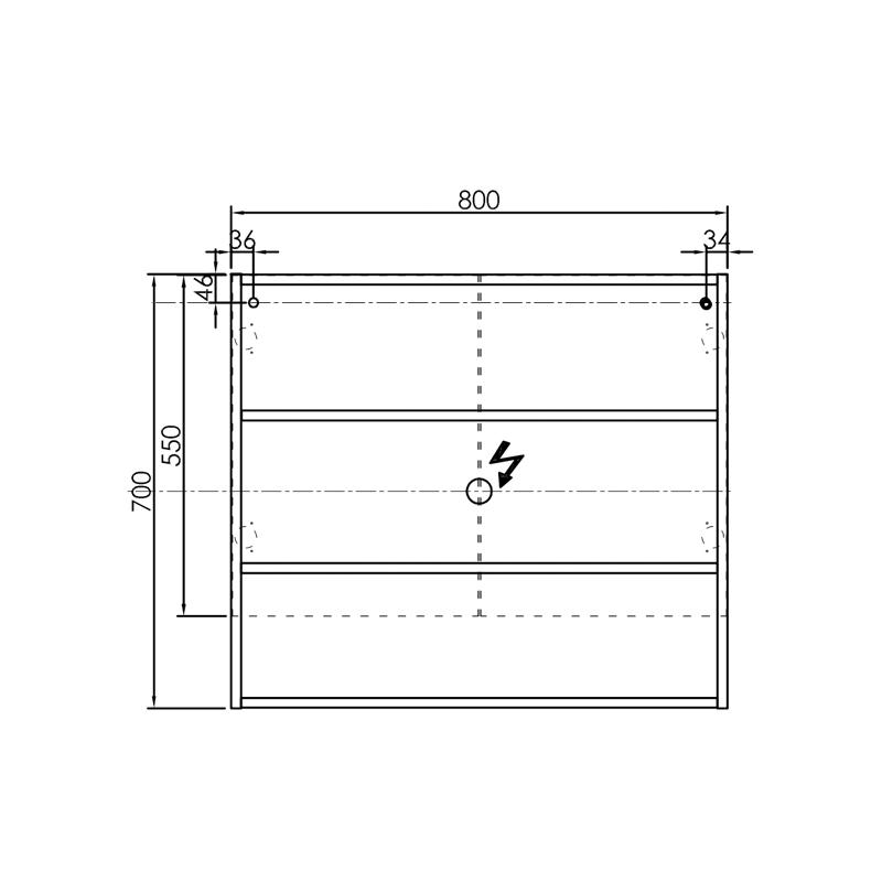 Oglinda cu dulap Kolpasan, Evelin, 80x14x70cm, gri