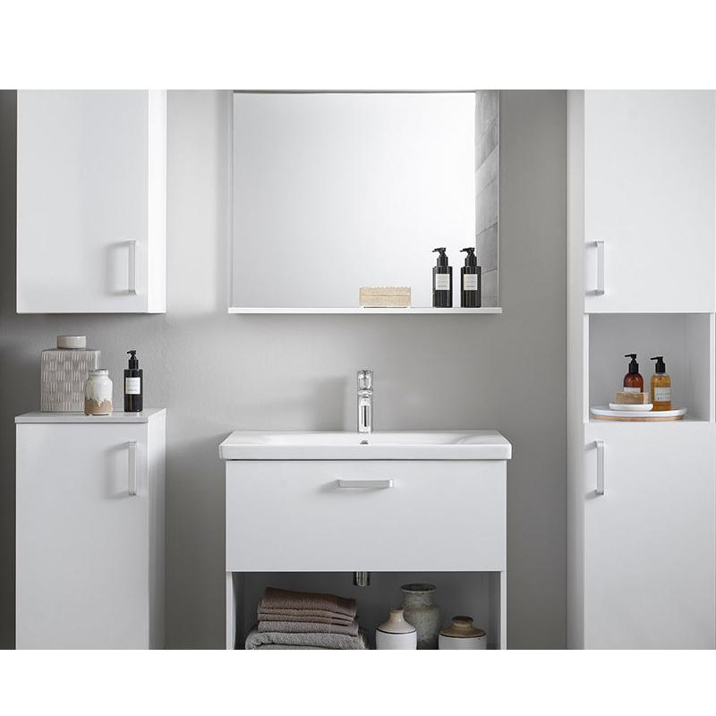Oglinda cu etajera Kolpasan, Evelin, 80x70 cm, gri