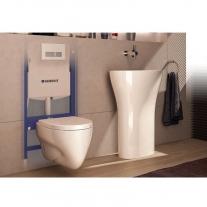 Set instalator Geberit, rama Duofix, rezervor Sigma 12cm cu set fixare si set antifonare, pentru wc suspendat