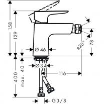 Baterie-bideu-Hansgrohe-Talis-Select-E-tehnic