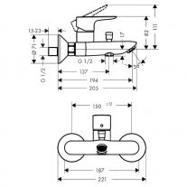 baterie-cada-dus-hansgrohe-talis-select-e-tehnic